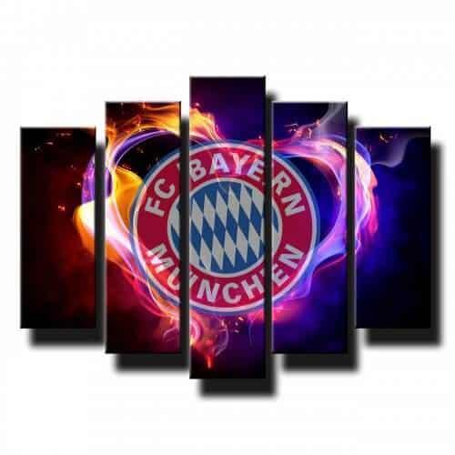 5 dielny obraz na stenu Bayern München