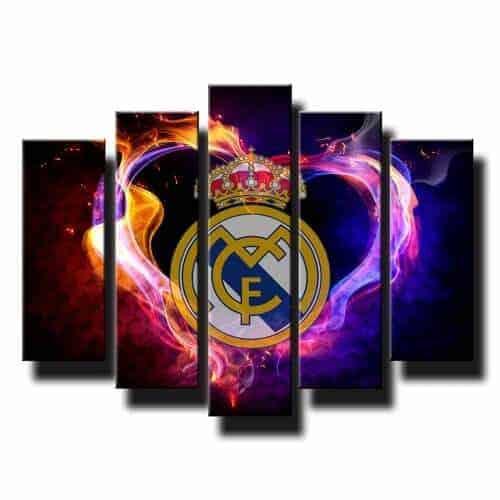 5 dielny obraz na stenu Real Madrid