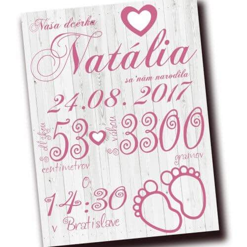 Pamätná tabuľka pre novorodenca,tabuľka pre dieťa