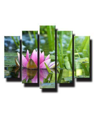 5 dielny obraz na stenu orchide vo vode