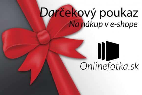 Darčekový poukaz na nákup v sehope Onlinefotka.sk - Zlava na nákup